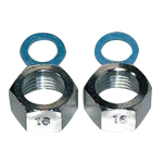 Faucet and related products flexible tube cap nut and packing set (stainless steel)