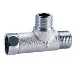 Auxiliary Material for Piping, Fitting, and Plumbing, Plated Fittings, Outer Screw Tees - With Side Nut - M149GA