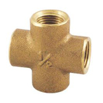 Auxiliary Material for Piping, Fitting, and Plumbing, Fitting for Water Supply Piping, Gunmetal Cross