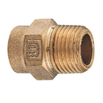 Copper Tube Fitting, Copper Tube Fitting for Hot Water Supply, Copper Tube External Threaded Socket