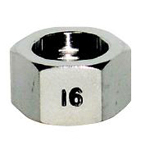 Faucet and related products flexible tube cap nut (stainless steel)