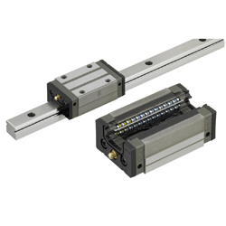Linear Guides for Heavy Load - Stainless Steel - With Plastic Retainers, Interchangeable, Light Preload