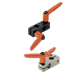 Super Compact Strut Clamps / Strut Clamps - Equal Dia., Perpendicular Configuration with Clamp Levers