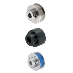 Pulleys for Flat Belts (Width T=6 ~ 32) - Flanged, Crowned, Press-Fit Urethane
