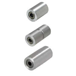 Idlers for Flat Belts-Straight Type/Crosspiece Groove Straight Type/Crowned Type/Width L25-100