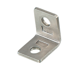 Thin Stainless Steel Tabbed Brackets For 6 Series (Slot Width 8mm) Aluminum Frames
