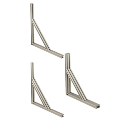 6 Series Aluminum Extrusions - Brackets for Reinforcement