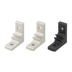 Extruded Brackets - For 1 Slot -For 5 Series (Slot Width 6mm) Aluminum Extrusions - Thick Brackets (Perpendicularly Machined)