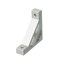 Extruded Brackets - For 1 Slot - For 6 Series (Slot Width 8mm) Aluminum Frames - Ultra Thick Brackets (Perpendicularly Machined)