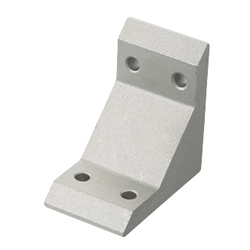 Tabbed Brackets - For 2 Slots - For 5 Series (Slot Width 6mm) Aluminum Frames