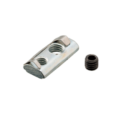 For 5 Series (Slot Width 6mm) - Post-Assembly Insertion - Lock Nuts with Leaf Springs