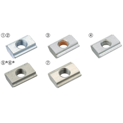 For 8 Series (Slot Width 10mm) - Post-Assembly Insertion - Stopper Nuts