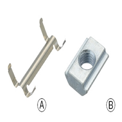 For 8 Series (Slot Width 10mm) - Post-Assembly Insertion - Nut and Metal Stopper Set