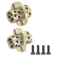 Flange Integrated Oil Free Bushings - Center Flanged