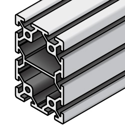 Aluminum Extrusion 5 Series/slot width 6/40x60mm, Parallel Surfacing