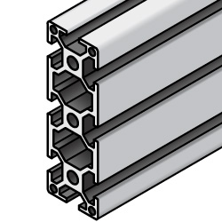 Aluminum Extrusion 5 Series/slot width 6/20x60mm, Parallel Surfacing
