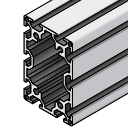 Aluminum Extrusion 6 Series/slot width 8/90x60mm, Parallel Surfacing