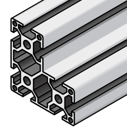 Aluminum Frame 6 Series/slot width 8/60x60x30mm, Parallel Surfacing