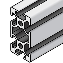 Aluminum Extrusion 8 Series/slot width 10/40x80mm, Parallel Surfacing