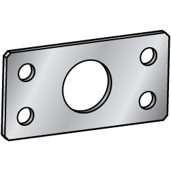 Sheet Metal Mounting Plates / Brackets - Center Symmetrical Type (4 - Hole specification)