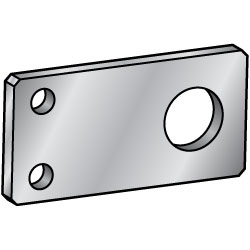 Flat Bars / Rolled Aluminum Mounting Plates, Brackets - B Dim. Selectable, B Dim. Configurable