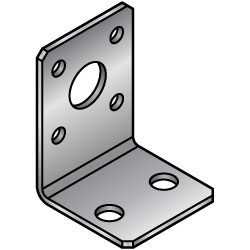 L Sheet Metal Mounting Plates, Brackets - Dimension Configurable Type