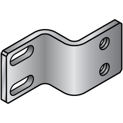 Sheet Metal Mounting Plates / Brackets - Z Bent Type