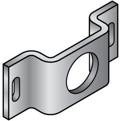 Sheet Metal Mounting Plates / Brackets - Convex Bent Type