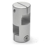 Stainless Steel, Square/Round Hole Pipe Joint/Angled Type