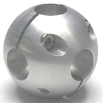 Round Pipe Joint Same Diameter Hole Type Ball 6 Directions
