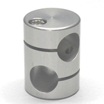 Round Pipe Joint Same-Diameter Hole Type with 45° Cross Hole (2 Point Top- and-Bottom Fastening)