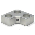 Round Pipe Joint Same-Diameter Hole Type with 3 Fixed Slim Shafts