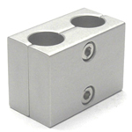 Round Pipe Joint Same-Diameter Hole Type 2-Split, 2 Parallel Shaft Holes