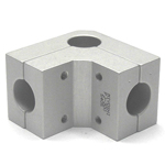 Round Pipe Joint, Differing Diameter Hole Type for Corners