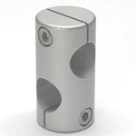 Stainless Steel, Round Hole Pipe Joint Cross 90° Hole