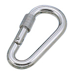 Pear-Shaped Carabiner (Ring Included)