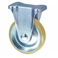 Static Electricity Proof Caster, SKM Series, Fixed (Static Electricity Proof Rubber Wheels)