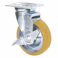 Anti-Static Caster STM Series, Swivel with Stopper (Anti-Static Rubber Wheel)