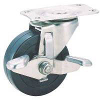 Stainless Steel, Caster SU-TEL Series, Includes Adjustable Stopper