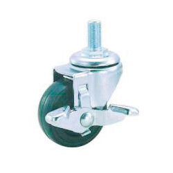 Standard Caster, SR Series, Includes Freely Swiveling Stopper
