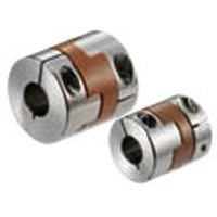 MOHS-C clean, vacuum, heat-resistance support coupling - Oldham type (Vespel) - clamping type