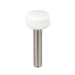 PC (Polycarbonate)/Knurled Stainless Steel Screws, Red, White and Black