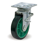 Steel Casters - Flexible - Stopper - with JB Fittings - UP/JB