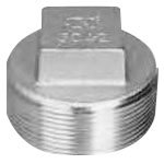 Stainless Steel Screw-in Fitting, Square Plug P