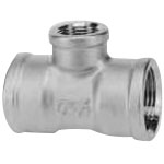 Stainless Steel Screw-in Pipe Fitting, Reducing Tee, RT
