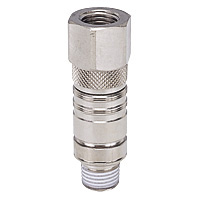 Mold Cooling - Mold Temperature Control Joint - Built-in Stop Valve - Female Screw Straight