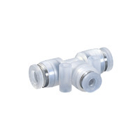 Tube Fitting PP Type Different Diameters Union Tee for Clean Environments