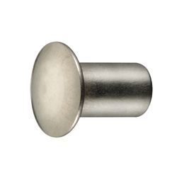 Thin, Rounded, Hollow Rivet