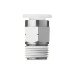 Stainless Steel One-Touch Pipe Fitting KQ2-G Series, Half Union Fitting KQ2H-G (Sealant / No Sealant)