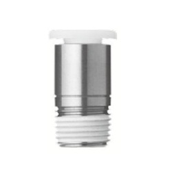 Stainless Steel One-Touch Pipe Fitting KQ2-G Series, Half Union Fitting With Hex Socket KQ2S-G (Sealant / No Sealant)